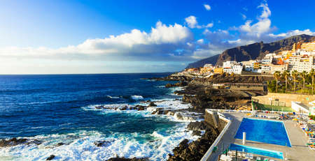 Beautiful Puerto of Santiago village, Tenerife island, Spain.