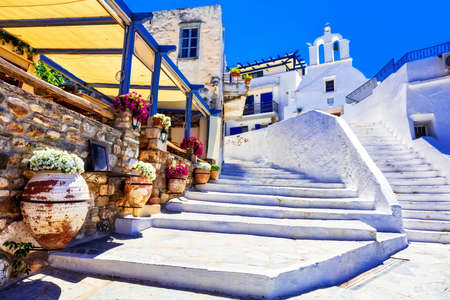 Old streets of Greece, Naxos. Stock Photo
