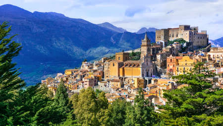 Picturesque Caccamo village, Sicily, Italy.