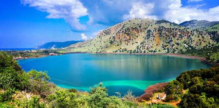 Impressive Kournas lake, Crete island, Greece