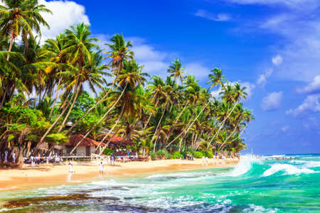 Tropical paradise in Hikkaduwa beach, Sri Lanka. Stock Photo