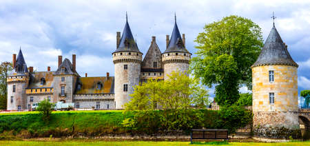 Impressive Sully-sur -Loire medieval castle, Loire valley, France. Editorial