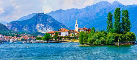 Beautiful Isola dei Pescatori, Lake Maggiore, North Italy. Banco de Imagens