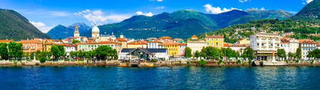 Beautiful Intra village, Lago Maggiore, North Italy. Banco de Imagens