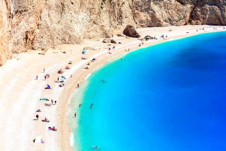 Beautiful Porto Katsiki Beach, Lefkada island, Greece. Banco de Imagens