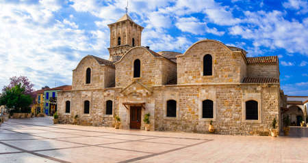Landmarks of Cyprus, view with the Byzantine church of San Lazarus, Larnaka town.