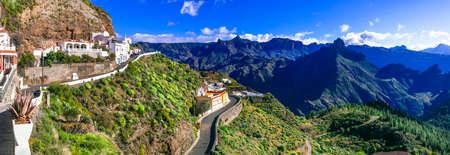 Incredible nature in Artenara village, Gran Canaria, Spain