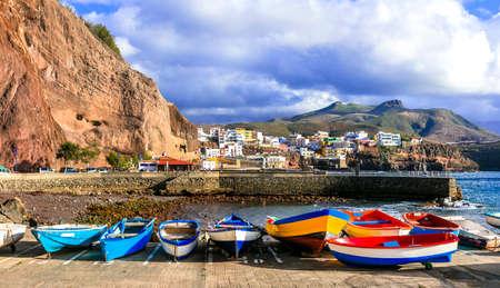 Traditional fishing boats, Puerto de Sardina village, Gran Canaria, Spain