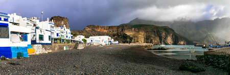 Impressive Puerto de las Nieves village, Gran Canaria, Spain Banco de Imagens