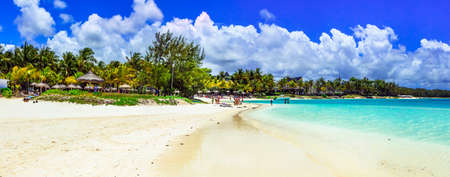 Beautiful beach of Mauritius island.