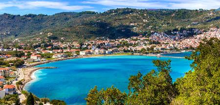 Impressive Skopelos island, panoramic view, Greece Banco de Imagens