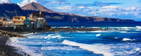 Beautiful San Andres village, panoramic view, Gran Canaria, Spain Banco de Imagens