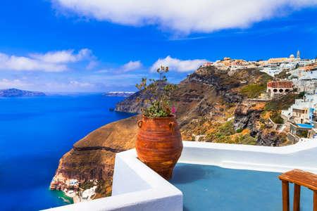 Impressive Volcanic landscape, Santorini island, Greece