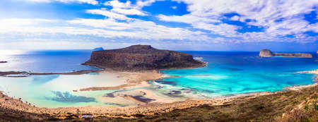 Impressive Gramvousa beach, Balos Bay, Crete island, Greece