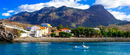 Impressive La Aldea de San Nicolas village, Gran Canaria, Spain Banco de Imagens