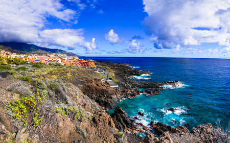 Beautiful Los Cancajos village, panoramic view, La Palma island, Spain.