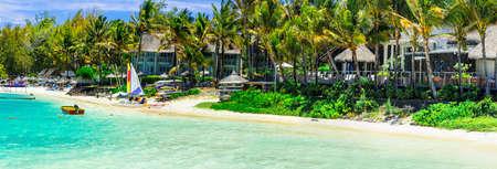 Tropical paradise in Mauritius island. Banco de Imagens