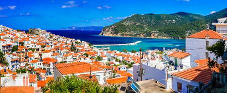 Landmarks of Greece, Skopelos island. Banco de Imagens