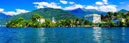 Impressive landscape of Lake Maggiore, North Italy.