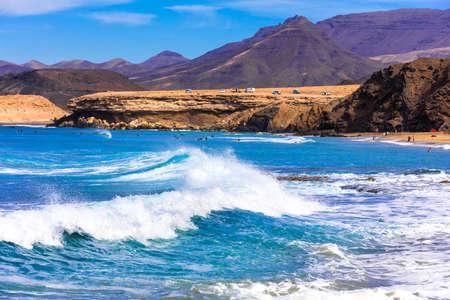 Impressive volcanic landscape in Fuerteventura island, Spain. Reklamní fotografie