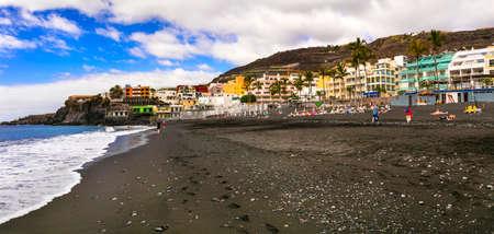 Impressive Puerto Naos village, panoramic view, La Palma island, Spain. Editorial