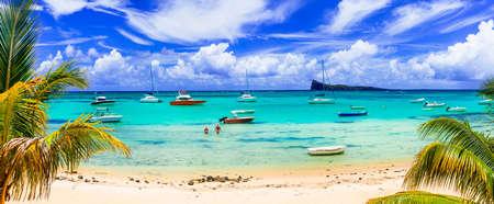 Tropical paradise in Mauritius island. Stock Photo