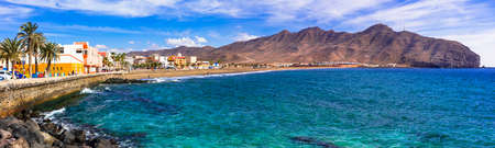 Impressive Gran Tarajal village, Fuerteventura island, Spain