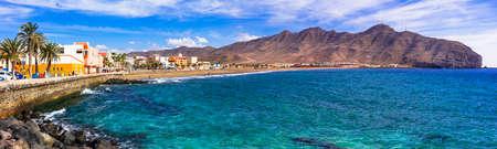 Village impressionnant de Gran Tarajal, île de Fuerteventura, Espagne