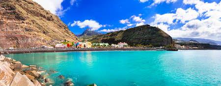Incredible nature in Puerto de Tazacorte village, panoramic view, Palmaisland, Spain.