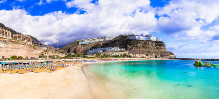 Beautiful Playa de los Amadores, Gran Canaria, Spain