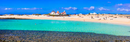 Beautiful beach of Fuerteventura island, near El Cotillo village, Spain
