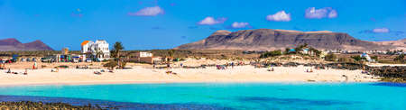 Beautiful beach of Fuerteventura island, near El Cotillo, Spain