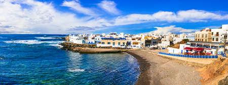 Beautiful El Cotillo village, panoramic view, Fuerteventura island, Spain