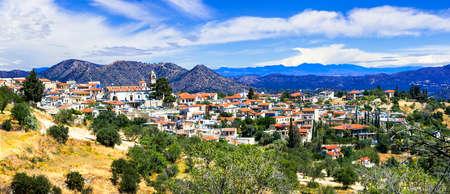 Impressive Lefkara village, panoramic view, Cyprus island. Banco de Imagens