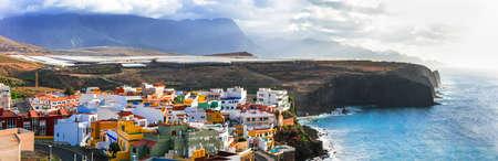 Beautiful Puerto de Sardina village, Gran Canaria, Spian. Banco de Imagens