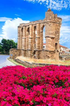 Old ruin in Famagusta town, Landmark of Cyprus. Banco de Imagens