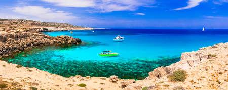 Beautiful Lagoon in Agia Napa, panoramic view, Cyprus island. Banco de Imagens