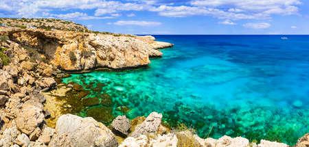 Beautiful turquoise sea in Ayia Napa, Cyprus island.