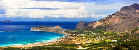 Impressive Crete island, panoramic view, Greece.