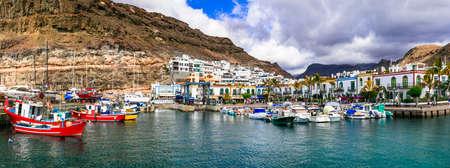 Beautiful Puerto de Mogan, panoramic view, Gran Canaria, Spain