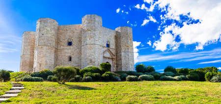 Landmarks of Italy, impressive Castel del monte castle, Puglia.