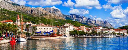 Beautiful Makarska riviera, Dalmatia, Croatia. Stock Photo