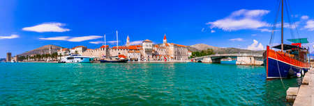 travel and landmarks of Croatia - historic town Trogir Stock Photo