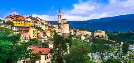 Picturesque Belluno town surround Dolomites Mountains, Veneto, Italy. 写真素材