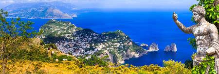 Landmarks of Italy, view with famous Capri. Reklamní fotografie