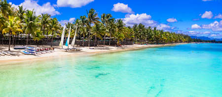 Tropical paradise on Mauritius island, Trou aux Biches.