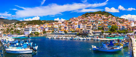 Beautiful Plomari town, Lesvos island, Greece.