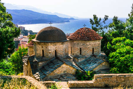 Old cathedral in Vathi village, Samos island, Greece