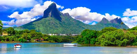 Impressive landscape of Mauritius island, Black River.