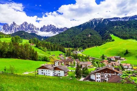 impressive alpine landscape of italy.